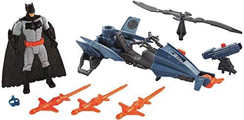 Justice League - Figura Batman de 15 cm y su batcóptero (Mattel FNP65)