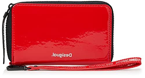 Desigual Accessories PU Medium Wallet, Tamaño Mediano. para Mujer, Rojo, U