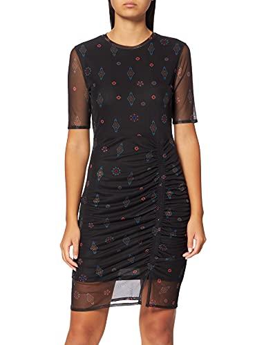 Desigual Vest_Kira Vestido Casual, Negro, XL para Mujer