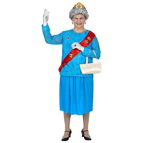 WIDMANN 85863Adultos Disfraz Queen, Color Azul , color/modelo surtido