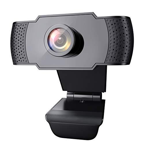 Wansview Webcam PC Full HD 1080P con Micrófono, Webcam Portátil para PC, Webcam USB 2.0, Streaming Cámara Reducción de Ruido para Videollamadas, Grabación, Conferencias con Clip Giratorio