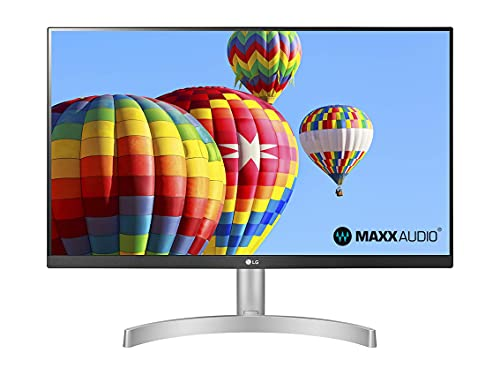 LG 24ML600S Monitor 24' Full HD LED IPS, 1920 x 1080, 1ms MBR, AMD FreeSync 75Hz, Audio Estéreo 10W, HDMI (HDCP 1.4), VGA, Salida de Audio, Flicker Safe, Blanco