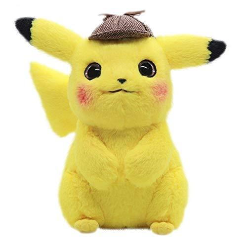 LIUMSJ El Detective 28cm Pikachu de Peluche de Juguete de Peluche de Juguete Pikachu Japón película de Anime Juguetes for los Regalos de los niños de la muñeca por Niño Bebé cumpleaños Animado