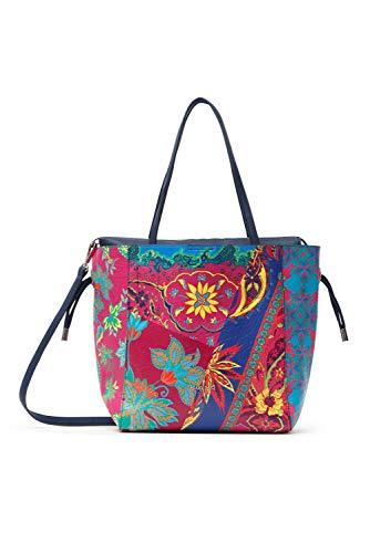 Desigual PU Shopping Bag, Bolsa de la compra para Mujer, azul, U