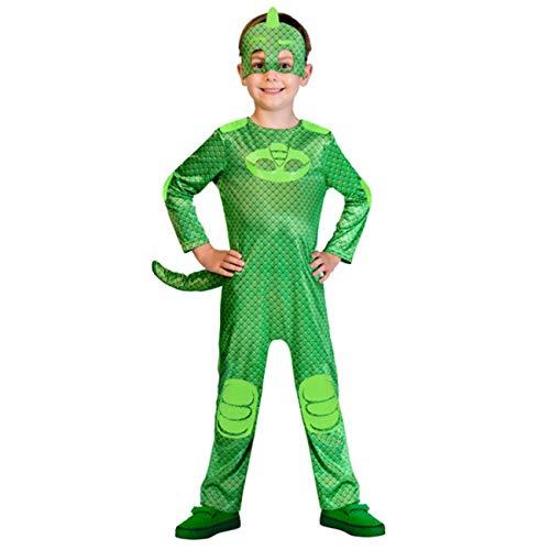 amscan – PJMASQUES GLUGLU-Gekko – Disfraz infantil – Verde – 3-4 años – 9902956