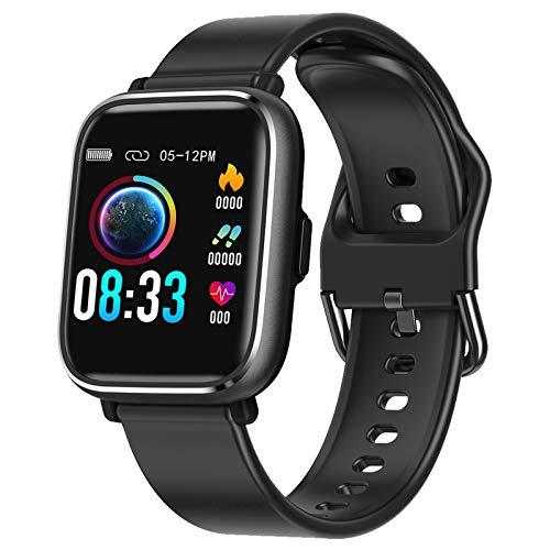 RaMokey Smartwatch, Relojes Inteligentes Mujer Hombre, Pulsera Actividad Inteligente Impermeable IP67, Reloj Fitness con Pulsómetro, Cronómetros,Calorías, Monitor de Sueño, Podómetro para Android iOS