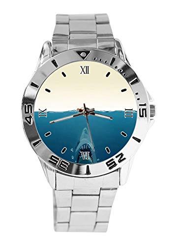 Shark Fashion - Reloj de Pulsera Deportivo para Hombre con Correa de Acero Inoxidable y Cuarzo analógico para Mujer