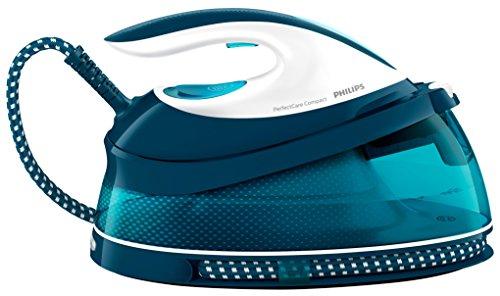 Philips PerfectCare Compact GC7831/20 - Centro de planchado con autonomía ilimitada, OptimalTemp, 5.8 bares, golpe vapor 330 g, 1.5 l, 200 W, 1.5 litros, compuesto, azul