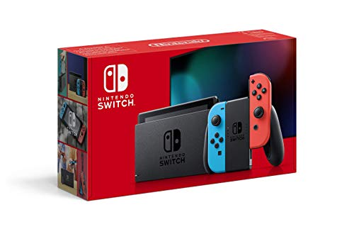 Nintendo Switch - Consola Estándar, Color Azul Neón/Rojo Neón (Modelo 2019)