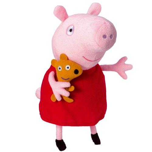 Peppa Pig Peluche Peppa con Voz, Multicolor (Bandai 84255)