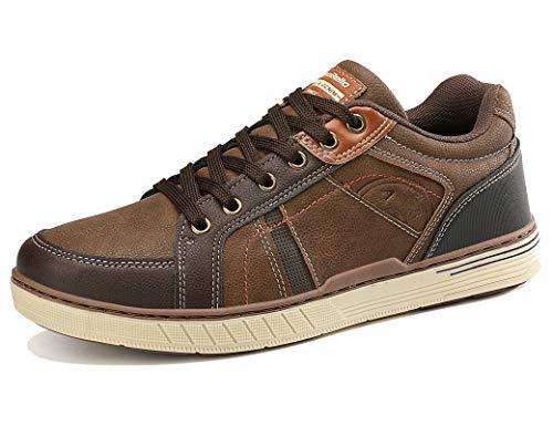 ARRIGO BELLO Zapatos Hombre Vestir Casual Zapatillas Deportivas Transpirables Gimnasio Correr Running Sneakers Al Aire Libre Tamaño 41-46 (Marrón, Numeric_42)