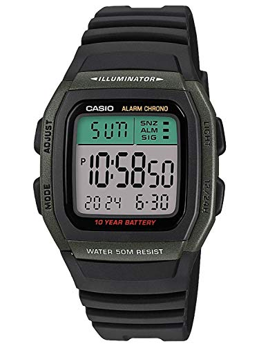 Casio Reloj Digital para Hombre de Cuarzo con Correa en Resina W-96H-3AVEF