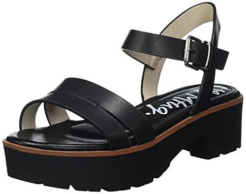 Sandalias Mujer mustang | Sandalias Curie 50437 | mustang Mujer | Sandalias Tira de Tobillo | Cierre con Hebilla | 49215 | Negro | 38