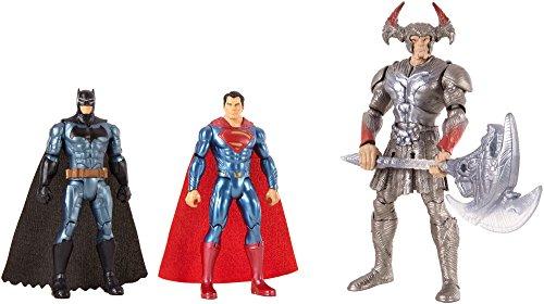 Justice League - Pack de 3 muñecos Batman, Superman y Steppenwolf (Mattel FGG57)