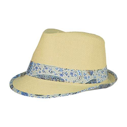 TOUTACOO, Sombrero, Panamá - Unisex - Chic y Tendencia .Copacabana cinturón Pashley (Azul)