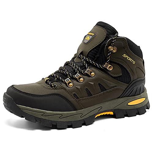 Botas de Senderismo Hombre Mujer Montaña Antideslizantes Zapatillas Trekking Calzado Transpirable Walking Boots Negro Gris Rojo EU 36-47 Verde 44