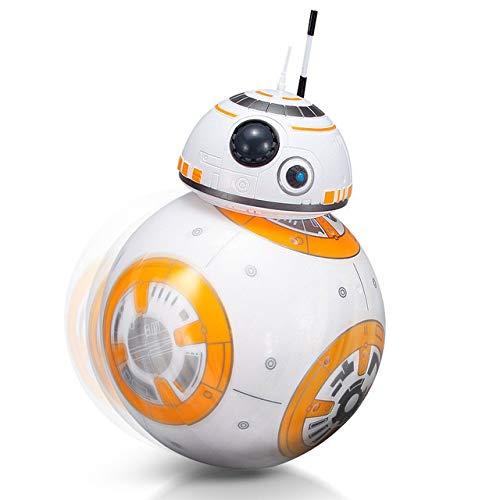 FSLLOVE FANGSHUILIN 2.4G de Control Remoto Inteligente Robot de Star Wars Actualiza RC BB8 Robot with Music Sound Figura de acción Regalo Juguetes Bola BB8 a los niños, Color: Sin la Caja Original