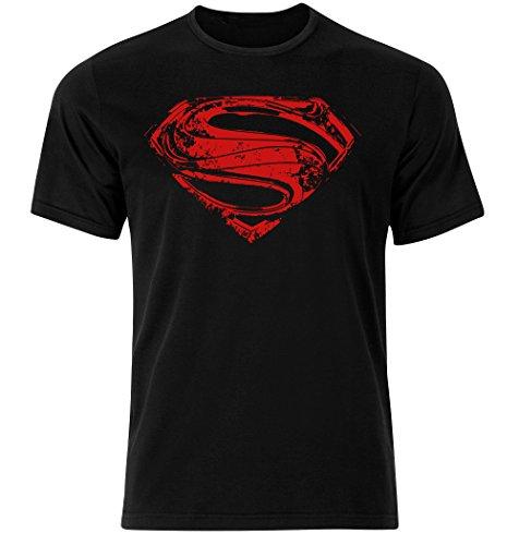 Playera con el logo de Superman en el pecho, y el logo de símbolo de esperanza color negro, todos los tamaños S-5XL. negro negro Small