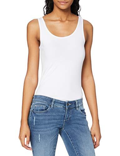 Only 15095808 Camiseta sin Mangas, Blanco (White White), 40 (Talla del Fabricante: Medium) para Mujer