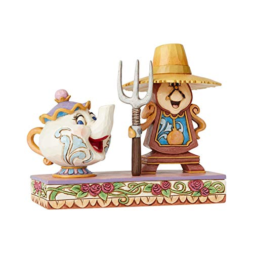 Disney Traditions, Figura de Ding Dong y la Señora Potts de 'La Bella y la Bestia', para coleccionistas, Enesco