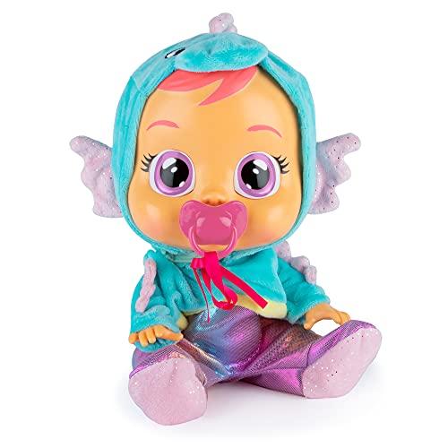 Bebés Llorones Fantasy Nessie - Muñeca Interactiva que llora de verdad con chupete y pijama de Animal Marino