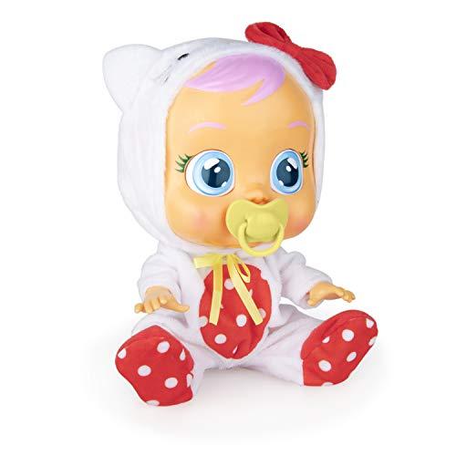 Bebés Llorones Hello Kitty - Muñeca interactiva que llora de verdad con chupete y pijama de Hello Kitty