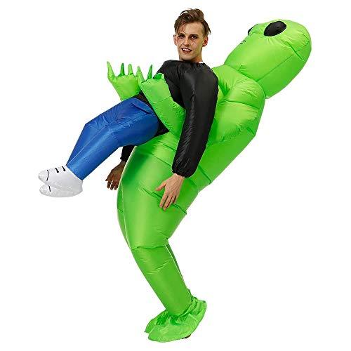 QASIMO ET Alien Disfraz Inflable Extraterrestre Disfraces de Carnaval Halloween Ropa de Fiesta para Adultos