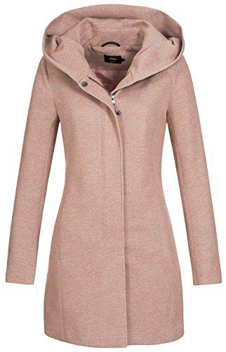 Only onlSEDONA Light Coat OTW Noos Abrigo, Marrón (Mocha Mousse Detail:Melange), 36 (Talla del Fabricante: Small) para Mujer