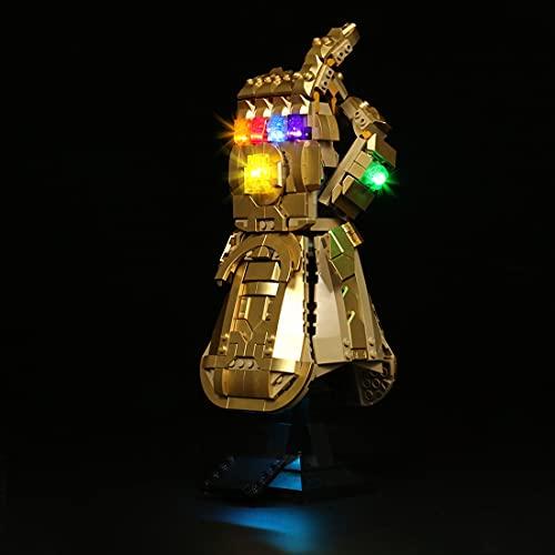 MBKE Conjunto de Luces Lluminación para Lego 76191 Marvel Guantelete del Infinito, Kit de luz LED Compatible con Lego 76191