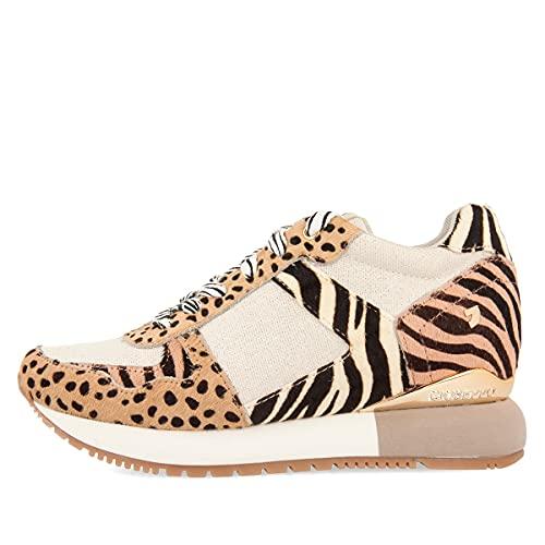 Sneakers para Mujer Multicolores con Diferentes Estampados y cuña Interna Bikaner