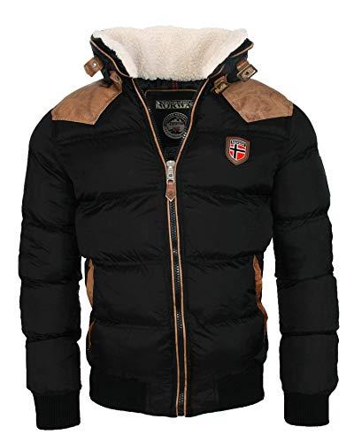 Geographical Norway Cálida chaqueta de invierno acolchada para hombre Negro L