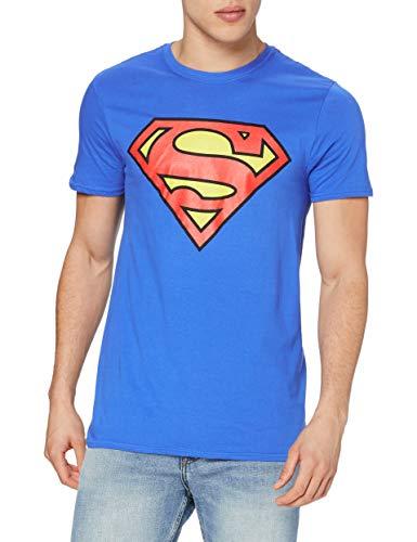 DC Comics Superman Logo Camiseta, Azul Royal, XL para Hombre