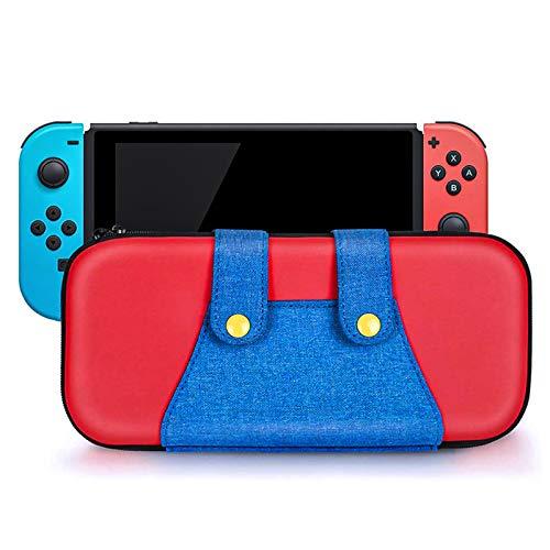 Funda de Transporte para Nintendo Switch,Bolsa Protectora para Switch con 10 Ranuras para Tarjetas de Juegos,Estilo Mario Estuches de PU Portátiles Case,Viaje Rígida Case Adecuada para Switch