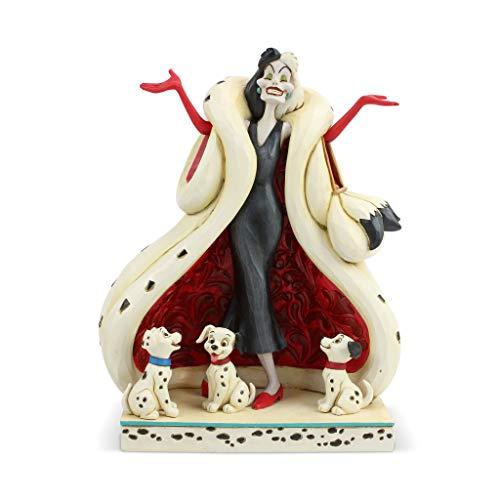 Disney Traditions, Figura de Cruella De Vil de '101 Dalmatas', para coleccionar, Enesco