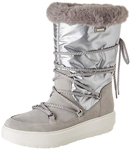 GEOX D KAULA B ABX C LT GREY/SILVER Women's Boots Snow size 40(EU)