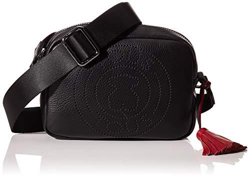 TOUS Leissa, Bolso bandolera para Mujer, Negro (Negro 995900737), 21x15x7 cm (W x H x L)
