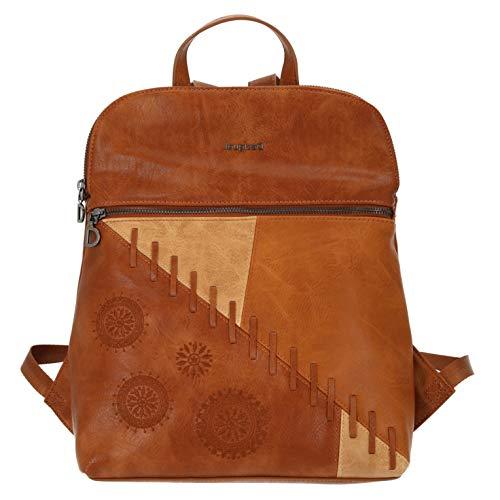 Desigual PU Backpack Medium, Gorilla Sports-Mochila de Poliuretano (tamaño Mediano) para Mujer, marrón