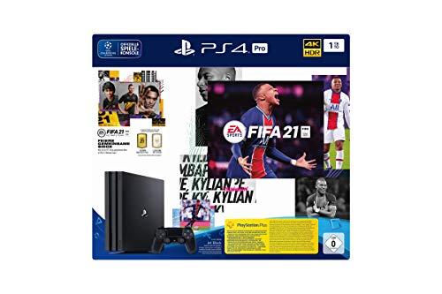 PlayStation 4 Pro Konsole - 1 TB JET Black mit EA Sports FIFA 21 PS 4 (inkl. kostenlosem Upgrade auf PS 5) [Importación alemana]