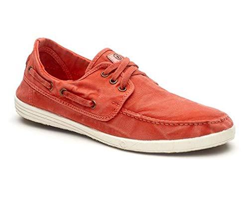 Natural World Eco Zapatos - 303E - Natural World Hombre - 100% EcoFriendly - Calzado Hombre Verano (Rojo, Numeric_42)