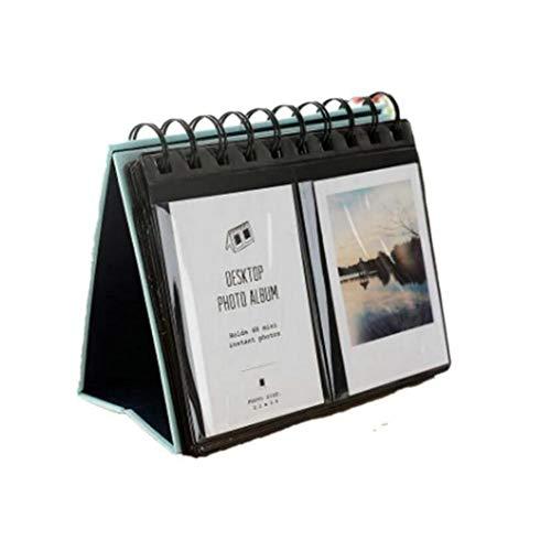 JUNICON - Álbum de fotos de escritorio para Fujifilm Instax Polaroid Mini 7s 8 50s 25 26 70 90 / Snap Touch/Zip Impresora instantánea/Polaroid Snap Zip Z2300 PIC-300 (azul)