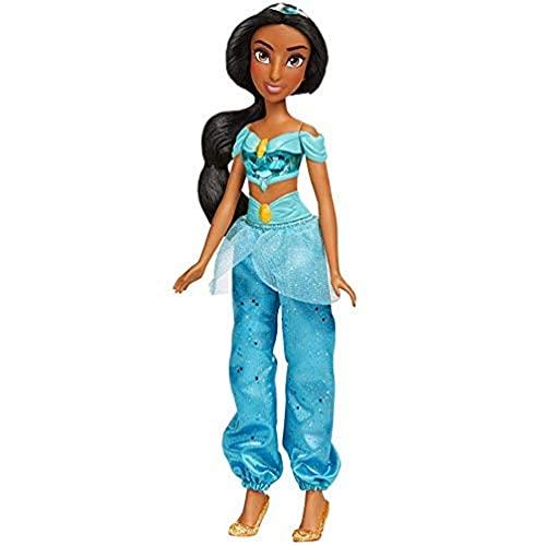 Disney Princess Muñeca Jasmín Royal Shimmer, Muñeca con Falda y Accesorios, Juguete para niñas y niños de 3 años en adelante