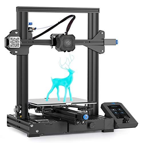 Impresora 3D Creality Ender 3 V2 con placa silenciosa de 32 bits, fuente de alimentación Meanwell, cama de vidrio de carborundum 220x220x250mm
