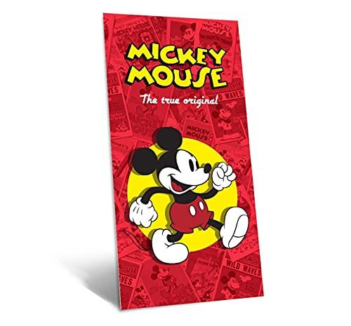 TIENDA EURASIA® Toalla de Playa 100% Algodón - Diseños Disney - 300 gr - 70 x 140 cm (Mickey Classic)