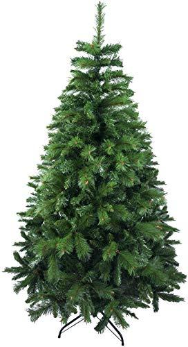 Solagua Árbol de Navidad Artificial Extra Relleno Abeto de Doble Hojas Combinadas 150-240cm Arboles C/Soporte Metálico (Verde, 180cm 690Tips)