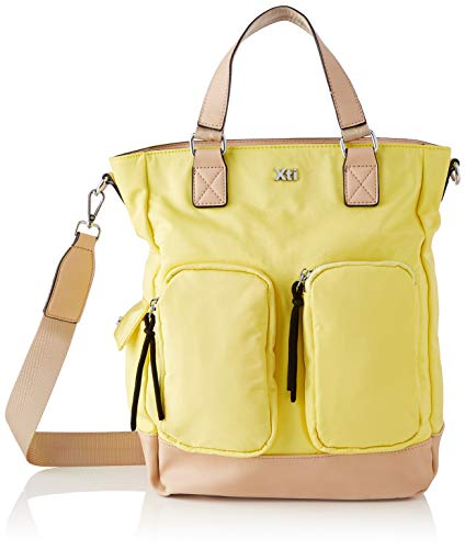 XTI 86482, Bolso Sra. Textil Amarillo para Mujer, Talla