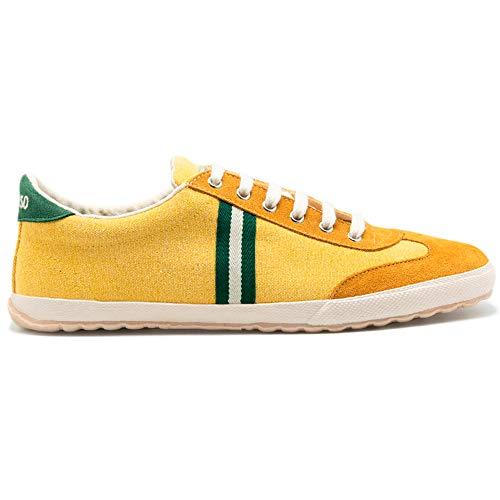 El Ganso Zapatillas Deportivas para Hombre. Match, Berliner y Low-Top. Sneaker Walking Unisex (Match Yellow Canvas, Numeric_42)