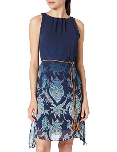 Desigual Vest_Jane Vestido Casual, Azul, S para Mujer