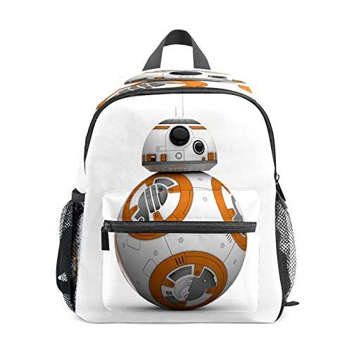 Mochila infantil para niños de 1 a 6 años de edad, bolsa de escuela para niños y niñas, mochila perfecta para niños pequeños a jardín de infantes, robot de Star Wars Bb8