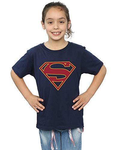 DC Comics niñas Supergirl Logo Camiseta 9-11 Years Armada
