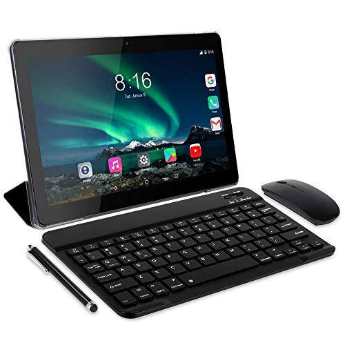 Tablet 10 Pulgadas 8 Core - TOSCiDO Android 10.0 Certificado por Google GMS 4G LTE Tablets,4GB de RAM y 64 GB,Dobles SIM, GPS,WiFi,Teclado Bluetooth,Ratón,Funda para Tableta y Más Incluidos - Gray